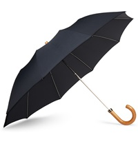 London Undercover Maple Handle Collapsible Umbrella Blue