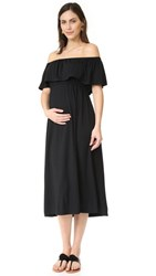 Ingrid And Isabel Off Shoulder Midi Dress Black
