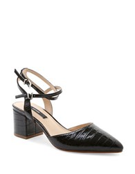 Kensie Begum Leather Dress Pumps Black