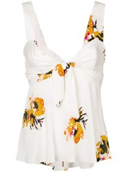 A.L.C. Floral Babydoll Camisole White