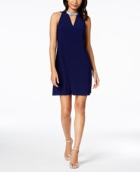 Msk Petite Embellished Keyhole Dress Midnight