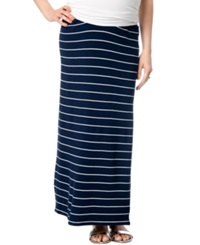 A Pea In The Pod Maternity Self Belly Striped Maxi Skirt