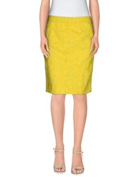 G.Sel Skirts Knee Length Skirts Women Yellow