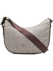 Borbonese Large Shoulder Bag Neutrals
