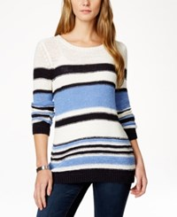 Charter Club Long Sleeve Striped Tunic Sweater Only At Macy's