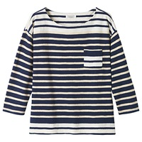 Toast Block Stripe T Shirt Navy