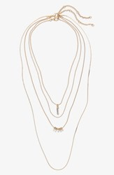 Bp. Two Pack Layered Necklace Gold Crystal