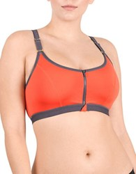 Natori Yogi Wireless Racerback Sports Bra Tiger Lily