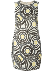 Erika Cavallini Semi Couture Jacquard Pattern Shift Dress