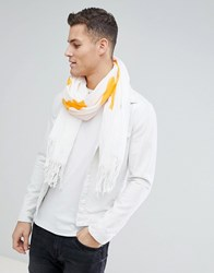 Weekday Limited Edition Human Script Scarf White