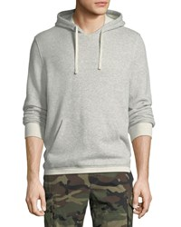 Vince Plush Pullover Hoodie Lt H Grey