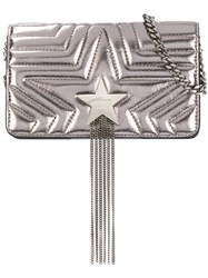 Stella Mccartney Star Fringed Bag Metallic