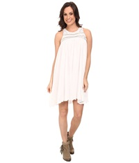 Rock And Roll Cowgirl Sleeveless Dress Off White Women's Dress Beige
