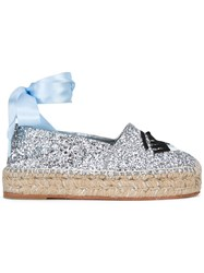 Chiara Ferragni High Shine Espadrilles Metallic
