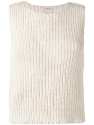 Bellerose Abys Knitted Tank Women Cotton Acrylic 3 Nude Neutrals