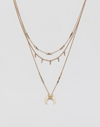 Pieces Western Necklace Gold