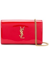 Saint Laurent Monogram Kate Clutch Red