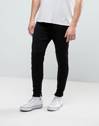 Pull And Bear Pullandbear Skinny Joggers In Black Black