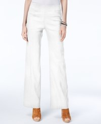 Inc International Concepts Petite Pull On Wide Leg Pants Only At Macy's Bright White