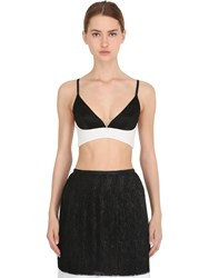 La Perla Two Tone Viscose And Silk Triangle Bra Top