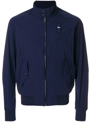 Blauer Casual Zipped Bomber Jacket Blue