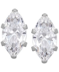 Macy's Marquise Cubic Zirconia Crystal Stud Earrings In 14 K Gold Or 14K White Gold