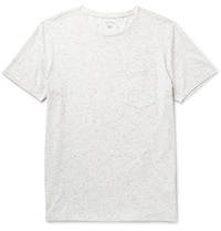 Club Monaco Donegal Slub Cotton And Modal Blend Jersey T Shirt Gray