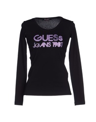Guess Jeans T Shirts Black