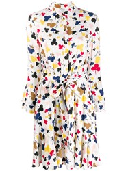 Boutique Moschino Floral Print Shirt Dress White