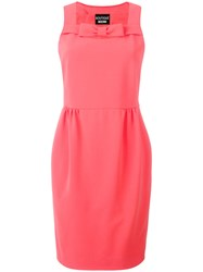 Boutique Moschino Fitted Dress Pink Purple