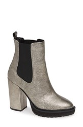 Linea Paolo Hedy Chelsea Bootie Anthracite Leather