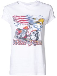 Forte Couture Graphic Print T Shirt White