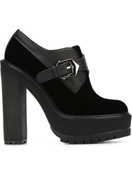 Givenchy Buckled Platform Booties Black