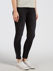 Calvin Klein High Rise Skinny Ankle Zip Jeans Black Lake