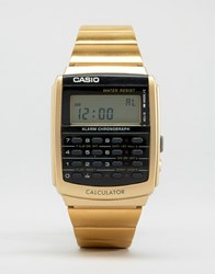 Casio Digital Watch In Black Gold Black