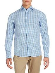 Ralph Lauren Aston Classic Fit Checked Button Down Shirt Blue White