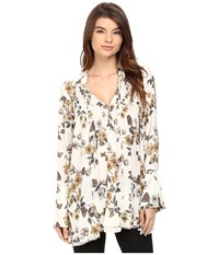 Free People So Fine Printed Tunic Ivory Combo Women's Blouse Multi