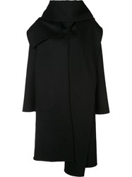 Barbara Casasola Oversized Double Coat Black