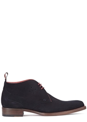 Jeffery West Dexter Navy Suede Chukka Boots