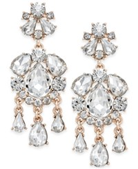 Charter Club Crystal Chandelier Earrings Only At Macy's Rose Gold