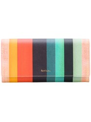 Paul Smith Striped Wallet Women Calf Leather One Size