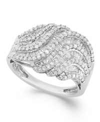 Wrapped In Love Diamond Twist Ring In Sterling Silver 1 Ct. T.W.