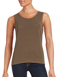 Lafayette 148 New York Linen Blend Tank Top Nougat