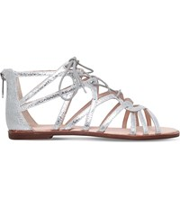Kg By Kurt Geiger Maisy Lace Up Front Sandals Silver