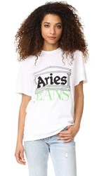 Aries Logo Tee White