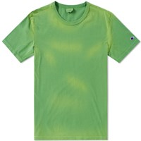 Champion Reverse Weave Enzyme Washed Tee Green
