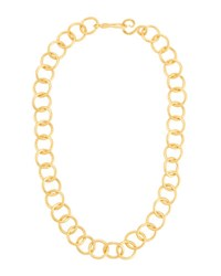 Stephanie Kantis Circle Link 24K Gold Plated Necklace No Color
