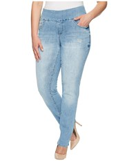Jag Jeans Plus Size Peri Pull On Straight Comfort Denim In Blue Issue Blue Issue Women's