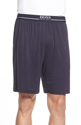 Boss Stretch Modal Lounge Shorts Blue