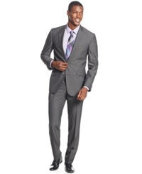 Kenneth Cole Reaction Charcoal Pinstripe Slim Fit Suit